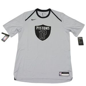New Nike Detroit Pistons Team Issued Crest Shirt